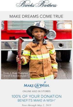 Brooks Brothers Make A Wish