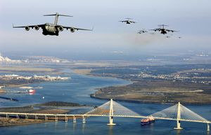 C-17s Over the Ravenel Bridge in Charleston