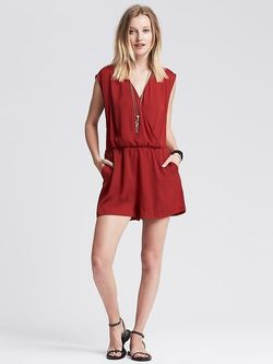 Banana Republic Faux Wrap Romper