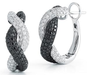 Roberto Coin Black White Diamond Earrings