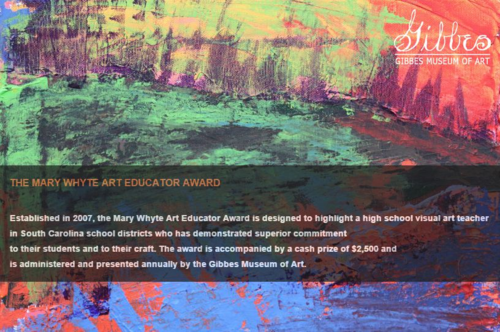 Gibbes Mary Whyte Art Educator Award