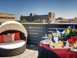 Restoration on King rooftop terrace