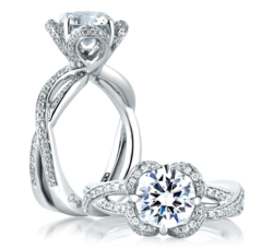 Floral Diamond Engagement Ring A.JAFFE