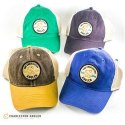 Charleston Angler Patch Hats