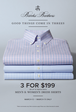Brooks Brothers Shirt Sale