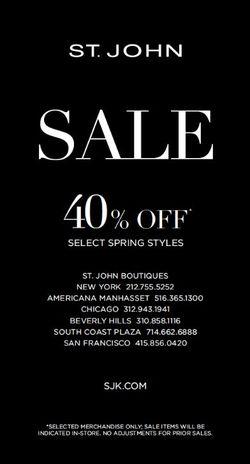 St. John Spring Sale