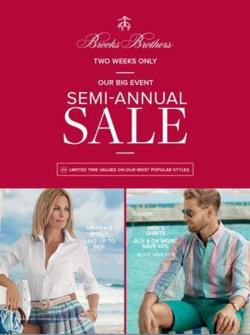 Brooks Brothers Semi-Annual Sale
