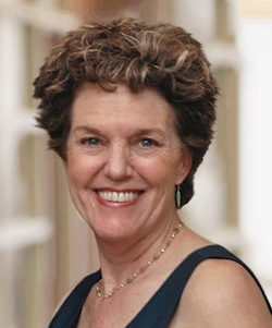 Charleston mayoral candidate, Ginny Deerin, speaking at Small Business Lunch at Halls Sept. 10