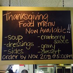 Teds Butcherblock Thanksgiving Menu