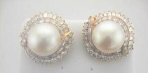 Joint Venture Estate Jewelers Pearl Earrings