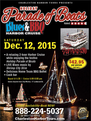 Charleston Harbor Tours Parade of Boats