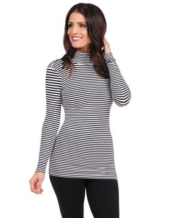 TINA Stephens Mock Neck Top