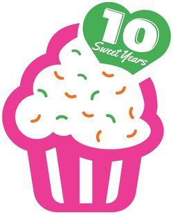 Cupcake 10 Year Anniversary