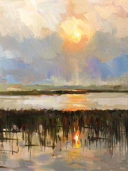 Afternoon Sun Kiawah by Rick Reinert