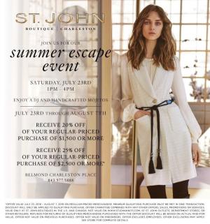 St. John Charleston Summer Escape