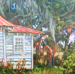 """Helen's Shack"" Original Oil by Olessia Maximenko"