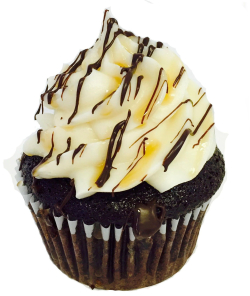 Chocolate Caramel Moonshine Cupcake